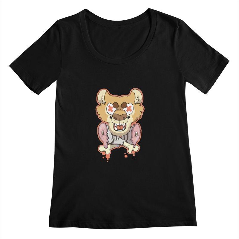 Beast & Crossbones Women's Scoopneck by C.C. Art's Shop