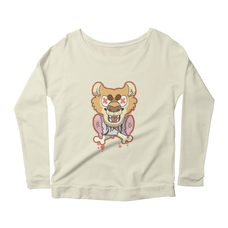 Beast & Crossbones Women's Longsleeve Scoopneck  by C.C. Art's Shop