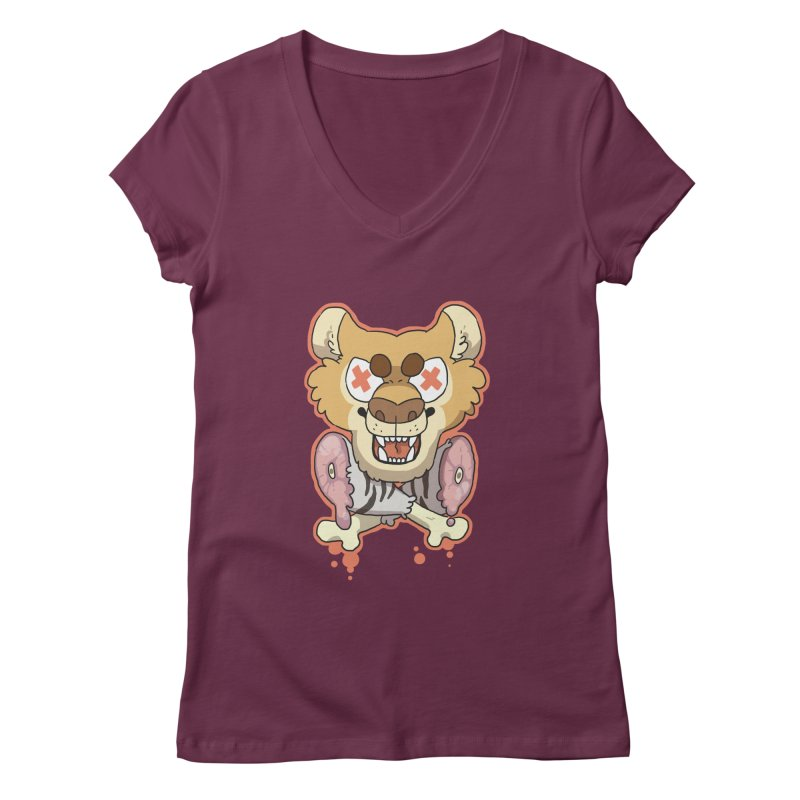 Beast & Crossbones Women's V-Neck by C.C. Art's Shop