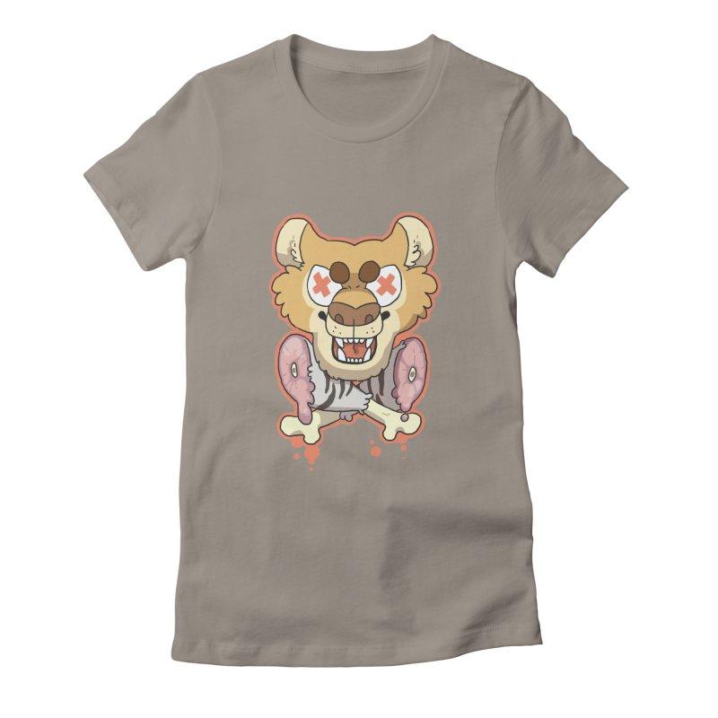 Beast & Crossbones Women's Fitted T-Shirt by C.C. Art's Shop