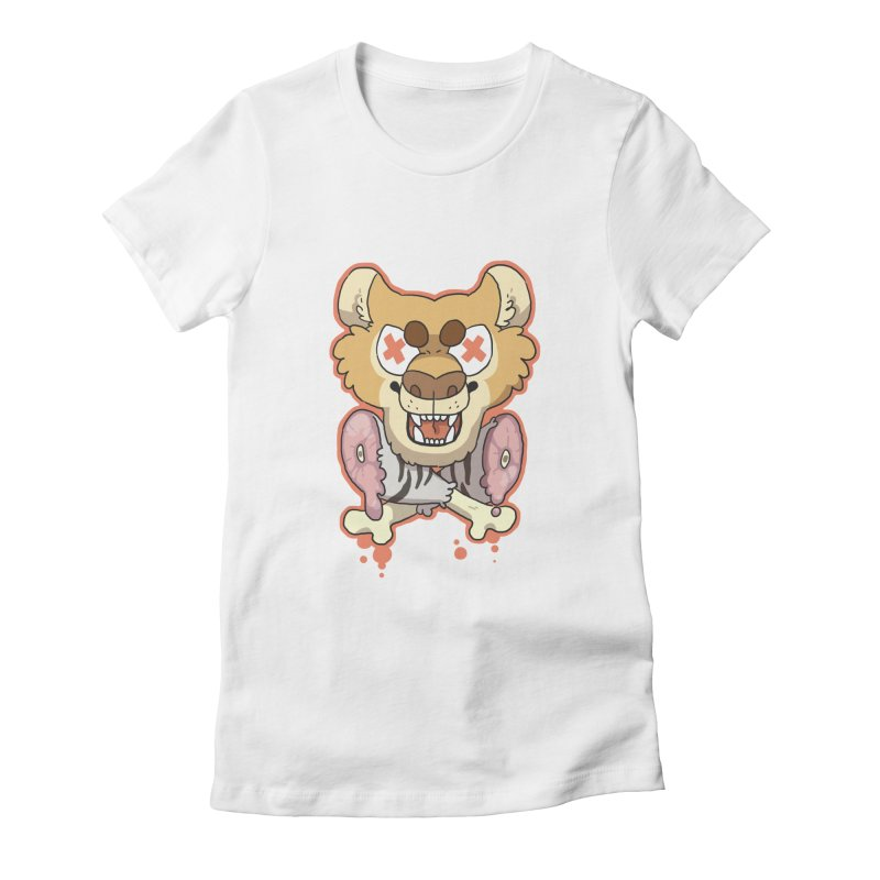 Beast & Crossbones Women's Fitted T-Shirt by C.C. Art's Shop