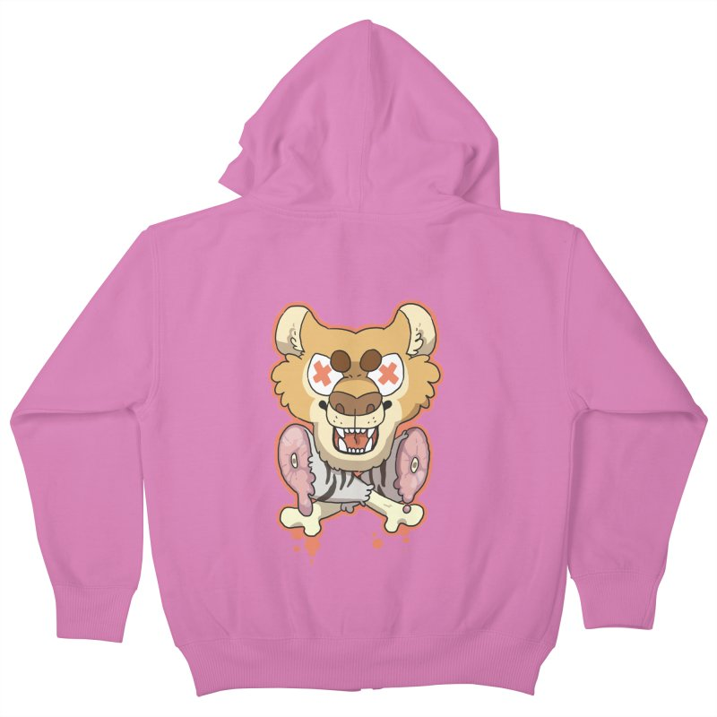 Beast & Crossbones Kids Zip-Up Hoody by C.C. Art's Shop