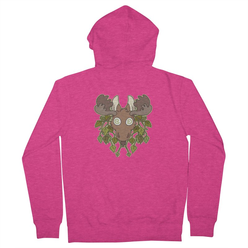 Moose Head Women's Zip-Up Hoody by C.C. Art's Shop