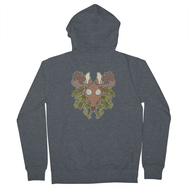 Moose Head Men's Zip-Up Hoody by C.C. Art's Shop