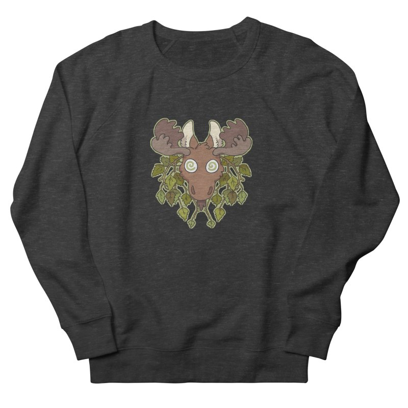 Moose Head Women's Sweatshirt by C.C. Art's Shop