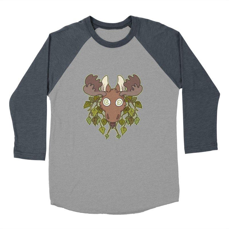 Moose Head Women's Baseball Triblend T-Shirt by C.C. Art's Shop