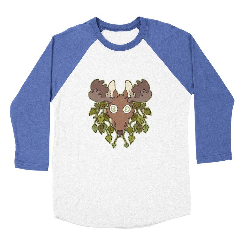 Moose Head Men's Baseball Triblend T-Shirt by C.C. Art's Shop