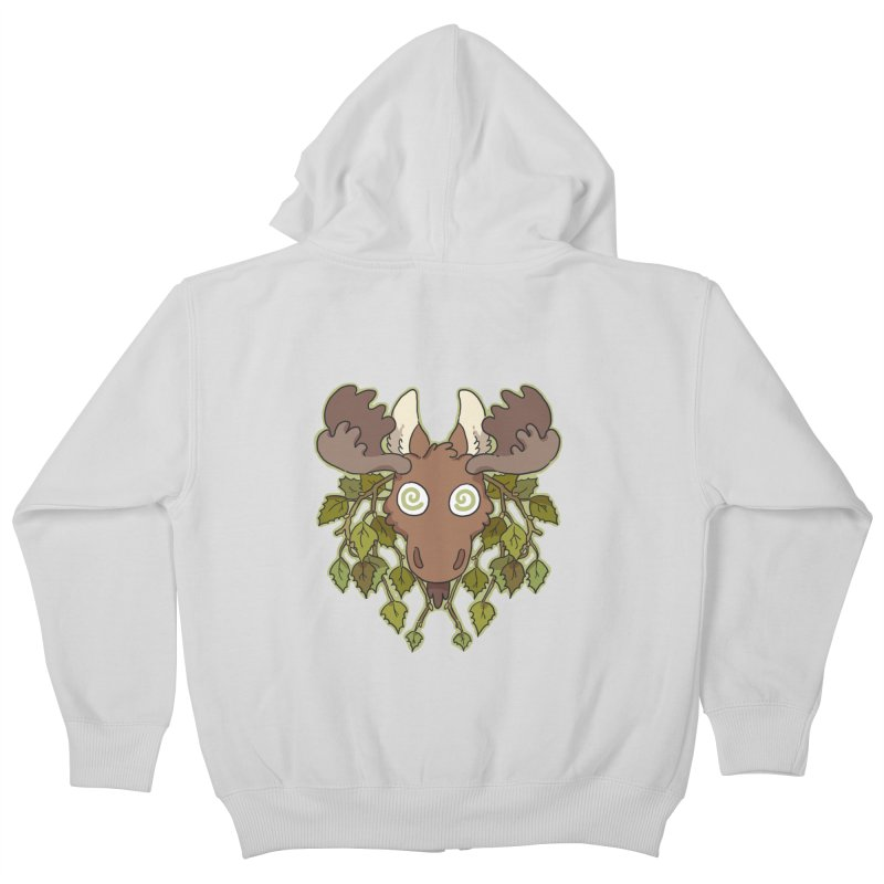 Moose Head Kids Zip-Up Hoody by C.C. Art's Shop