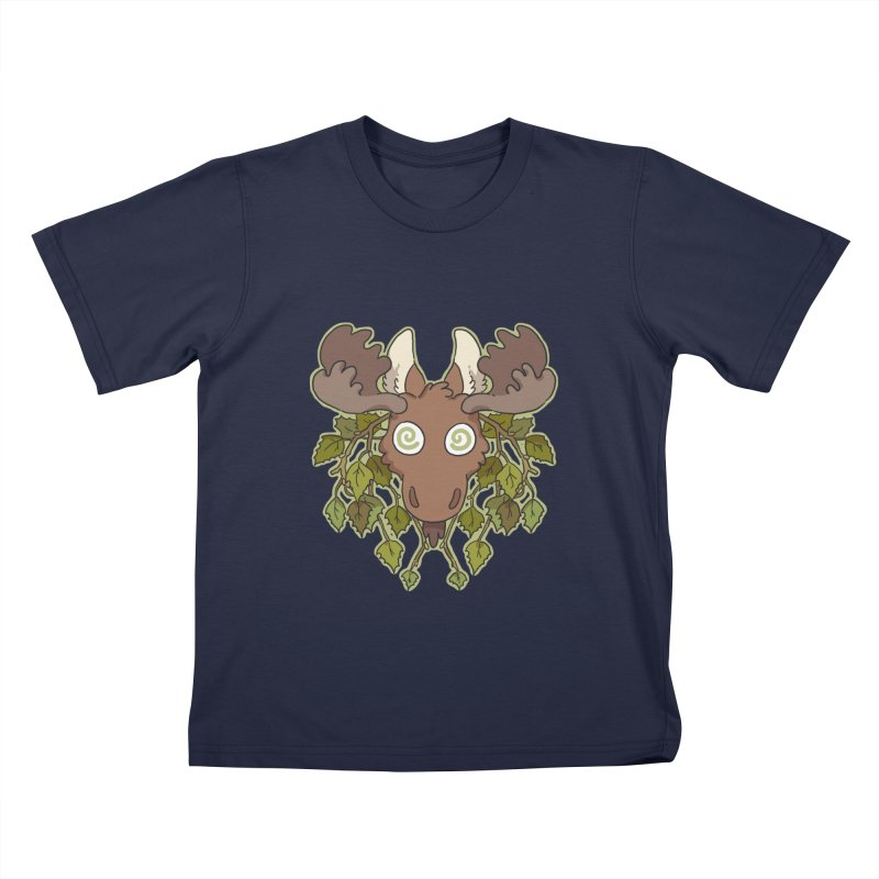 Moose Head Kids T-Shirt by C.C. Art's Shop