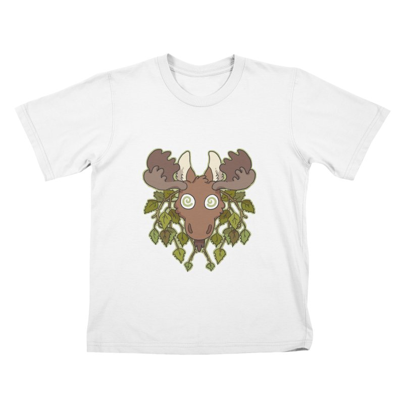 Moose Head Kids T-Shirt by C.C. Art's Shop
