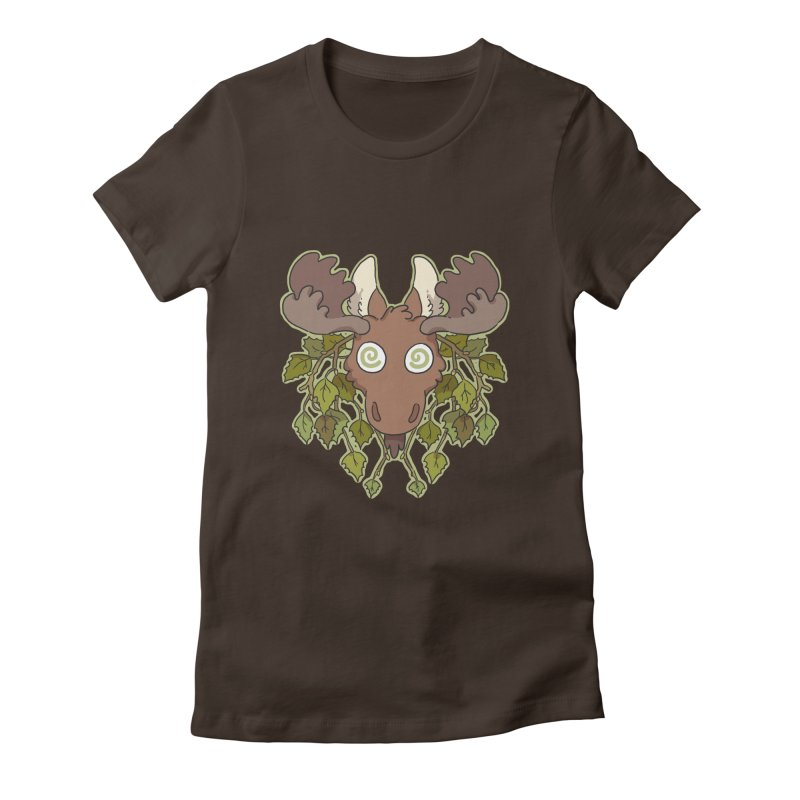 Moose Head Women's Fitted T-Shirt by C.C. Art's Shop