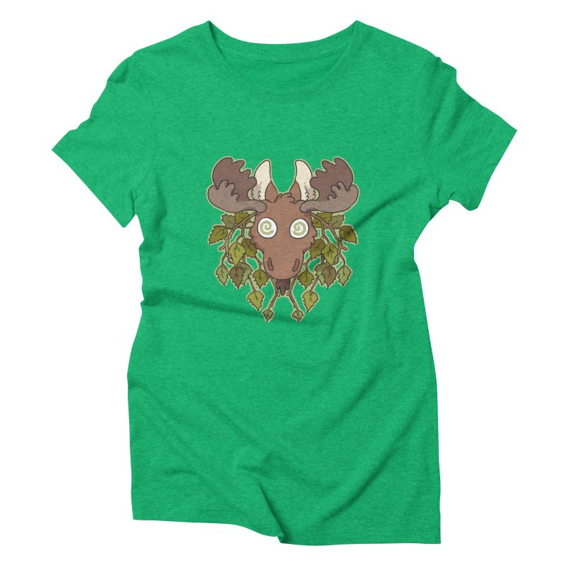 Moose Head Women's Triblend T-Shirt by C.C. Art's Shop