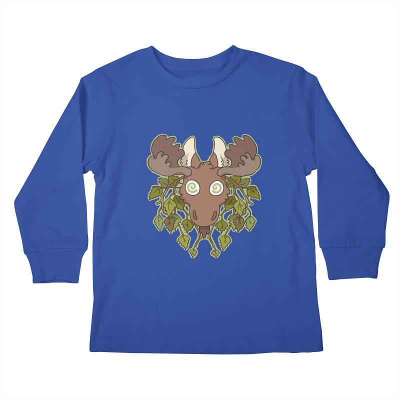 Moose Head Kids Longsleeve T-Shirt by C.C. Art's Shop