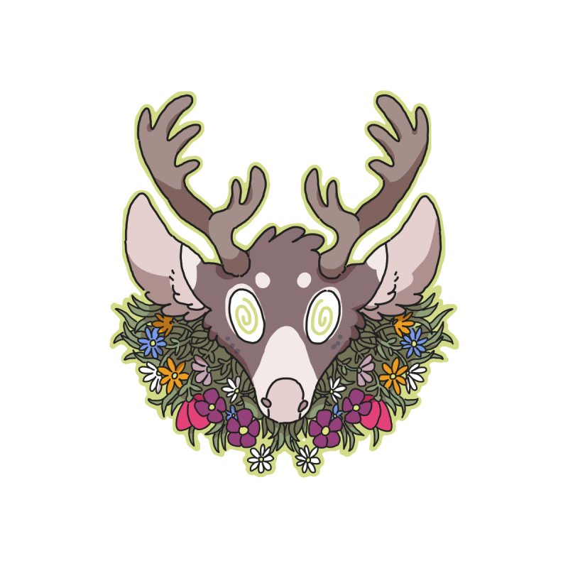 Deer Head None  by C.C. Art's Shop