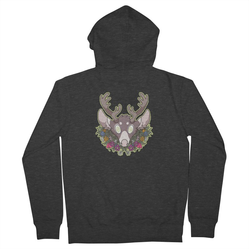 Deer Head Women's Zip-Up Hoody by C.C. Art's Shop