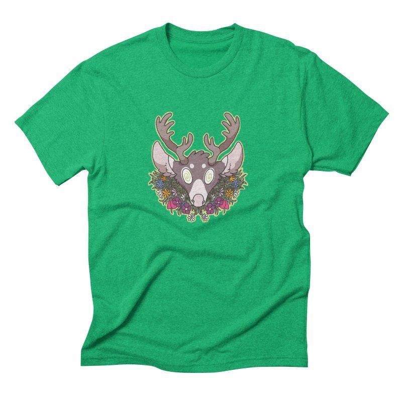 Deer Head Men's Triblend T-Shirt by C.C. Art's Shop