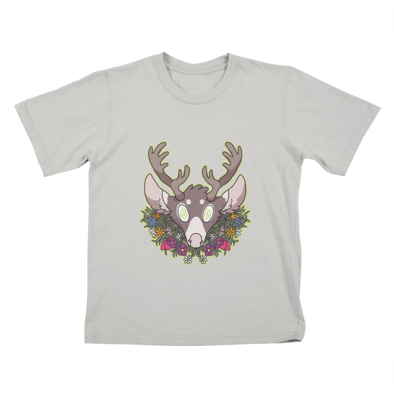 Deer Head Kids T-Shirt by C.C. Art's Shop