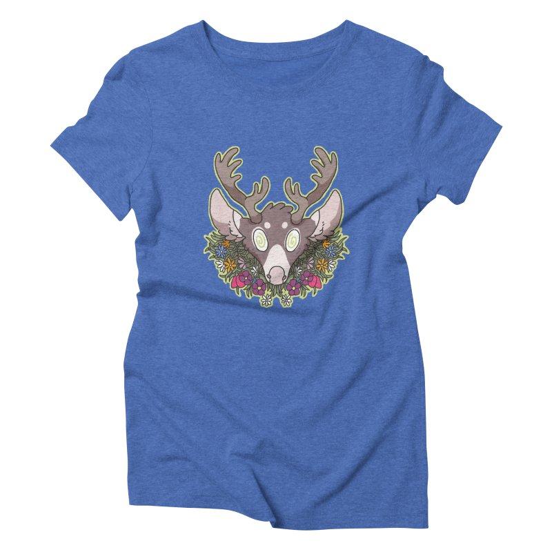 Deer Head Women's Triblend T-Shirt by C.C. Art's Shop