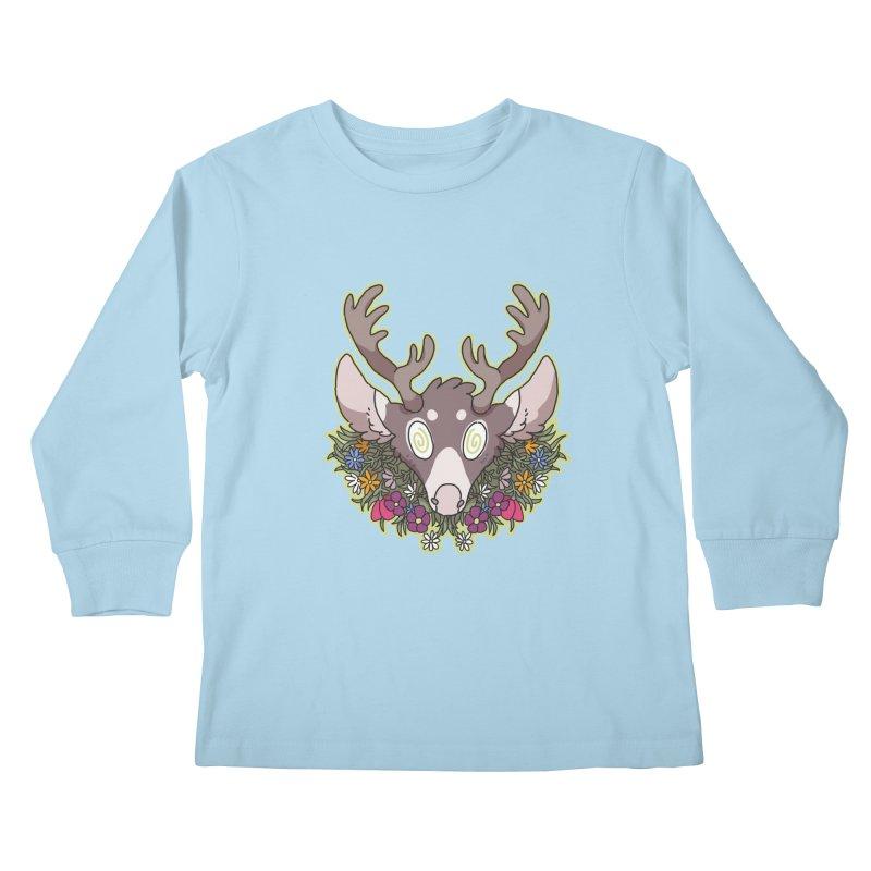 Deer Head Kids Longsleeve T-Shirt by C.C. Art's Shop