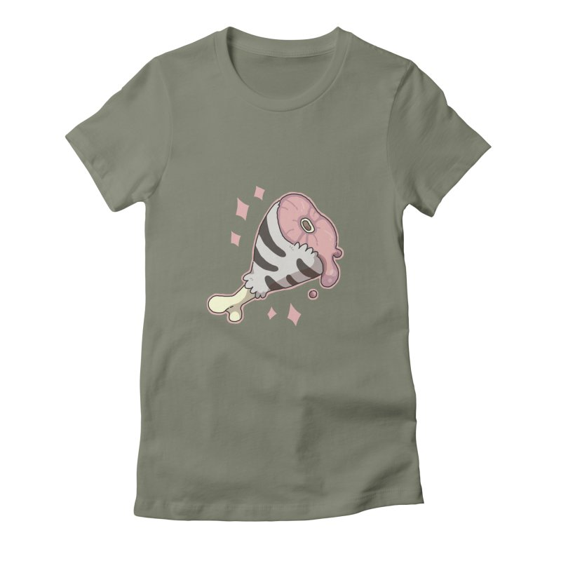 Meat Women's Fitted T-Shirt by C.C. Art's Shop