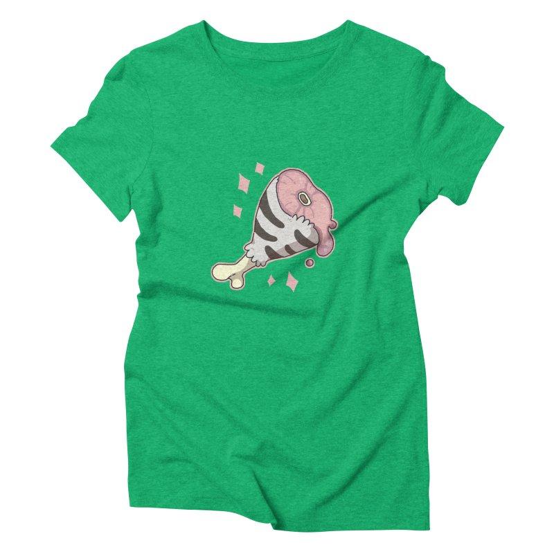 Meat Women's Triblend T-Shirt by C.C. Art's Shop