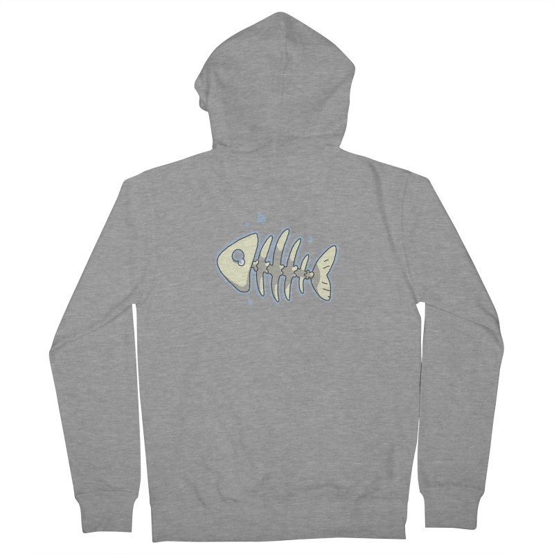 Fishbone Men's Zip-Up Hoody by C.C. Art's Shop