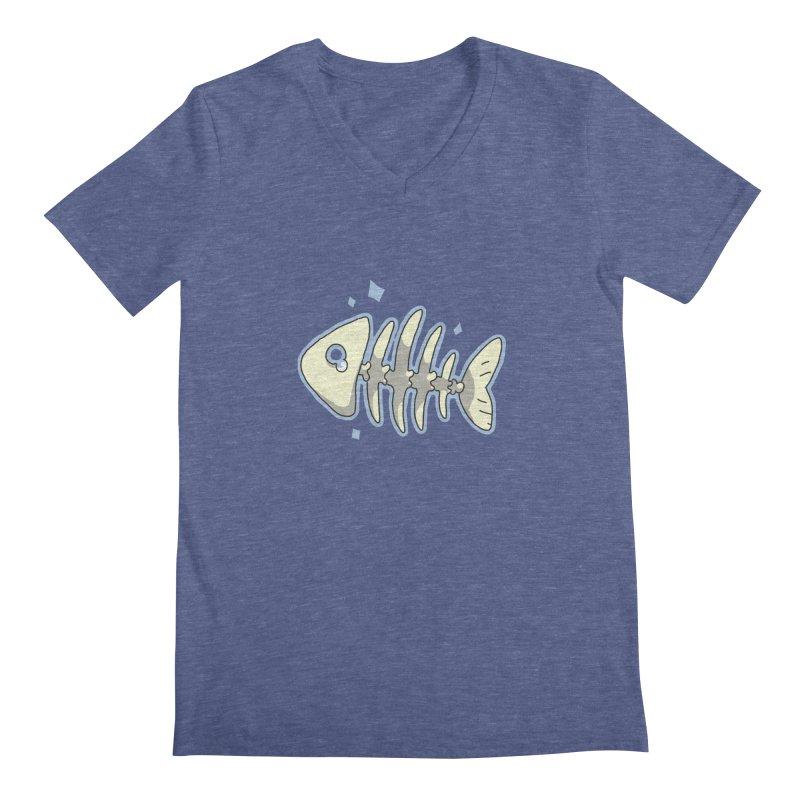 Fishbone Men's V-Neck by C.C. Art's Shop