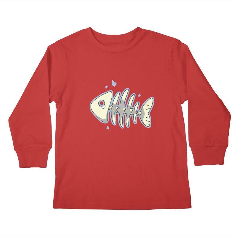 Fishbone Kids Longsleeve T-Shirt by C.C. Art's Shop