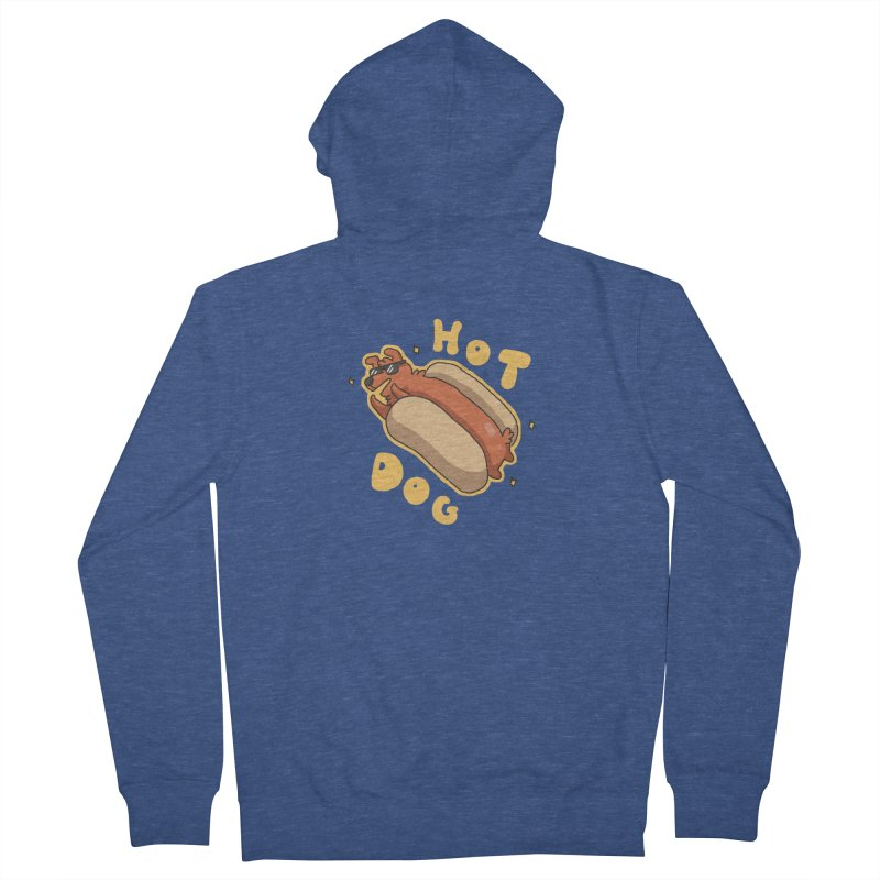 Hog Dog Women's Zip-Up Hoody by C.C. Art's Shop