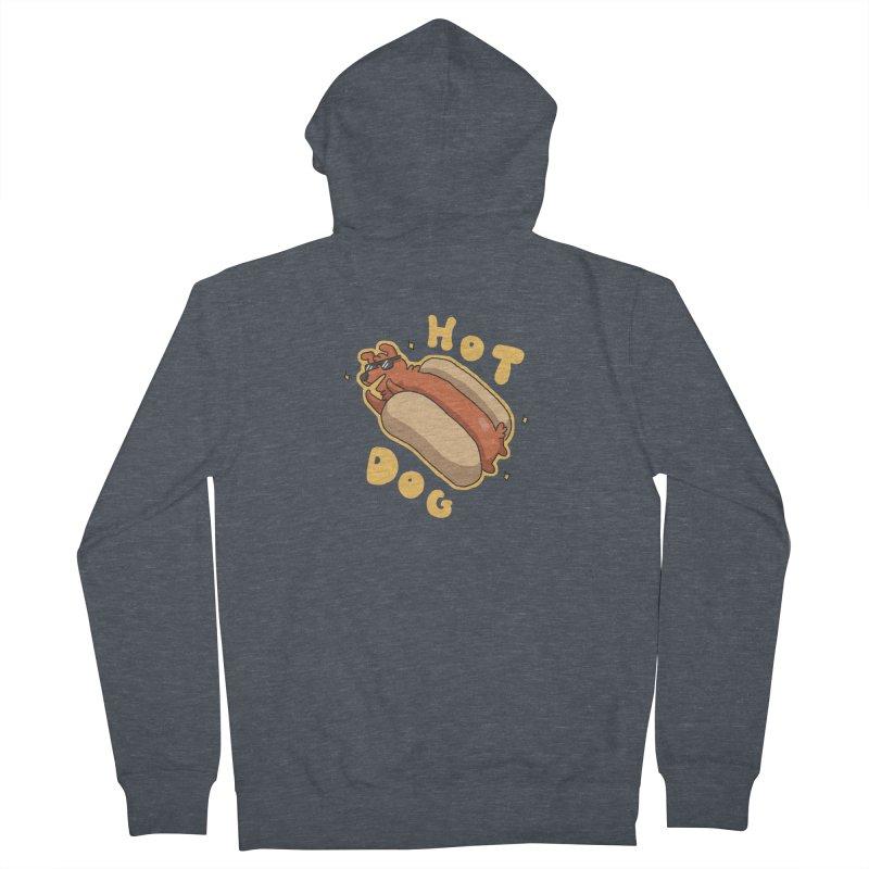Hog Dog Men's Zip-Up Hoody by C.C. Art's Shop