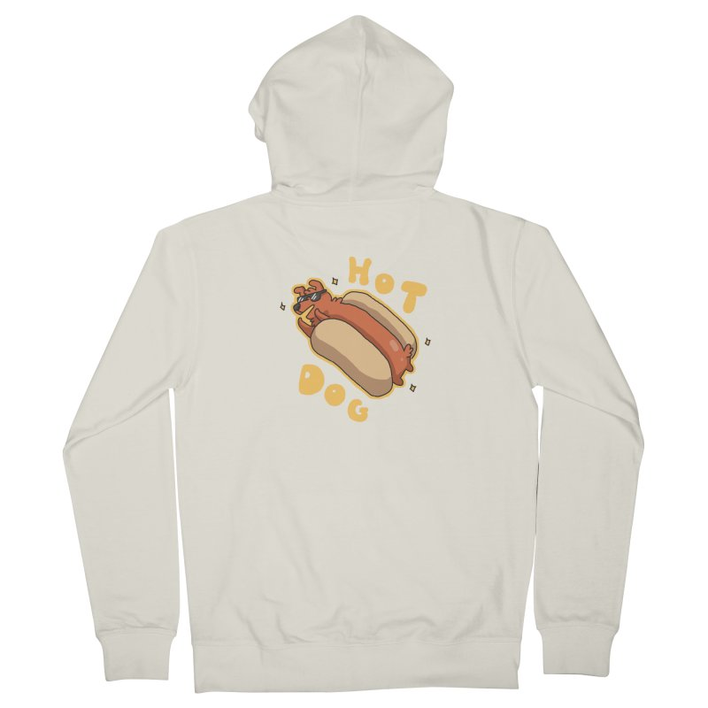 Hog Dog Men's Zip-Up Hoody by C.C. Art's Shop