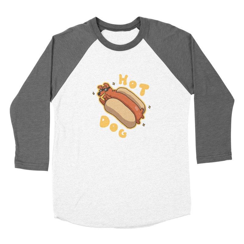 Hog Dog Women's Baseball Triblend T-Shirt by C.C. Art's Shop