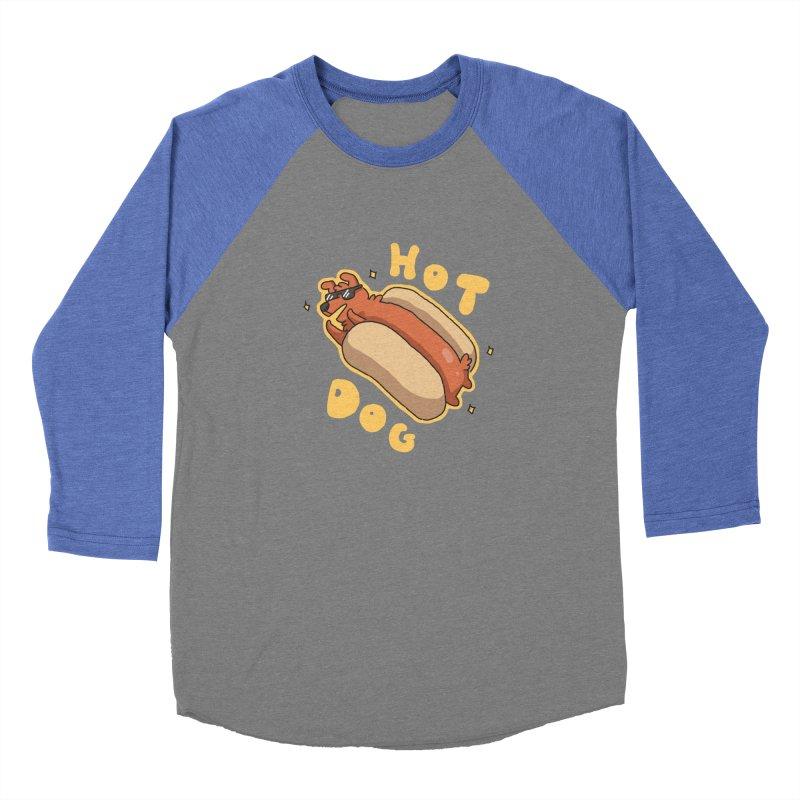 Hog Dog Men's Baseball Triblend T-Shirt by C.C. Art's Shop