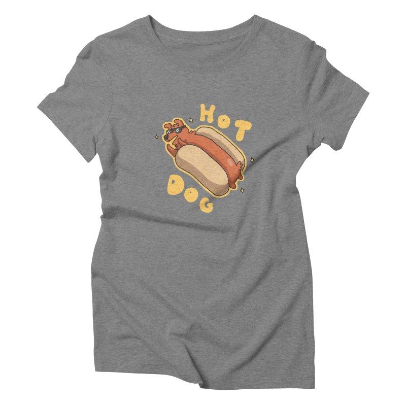 Hog Dog Women's Triblend T-shirt by C.C. Art's Shop