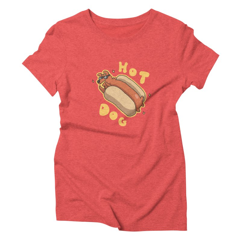Hog Dog Women's Triblend T-shirt by C.C. Art's Shop