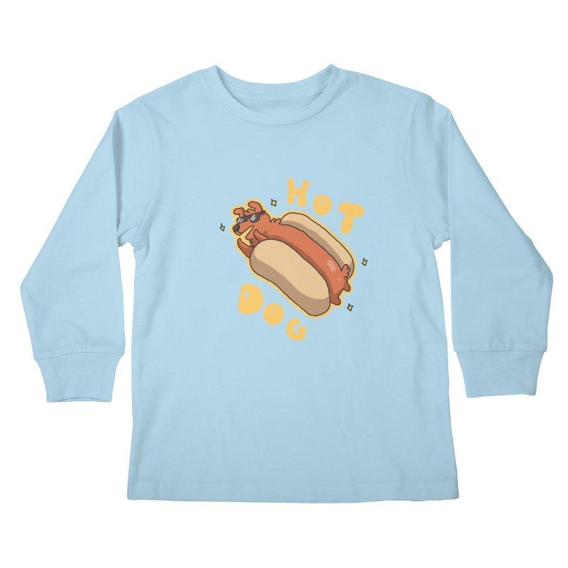 Hog Dog Kids Longsleeve T-Shirt by C.C. Art's Shop