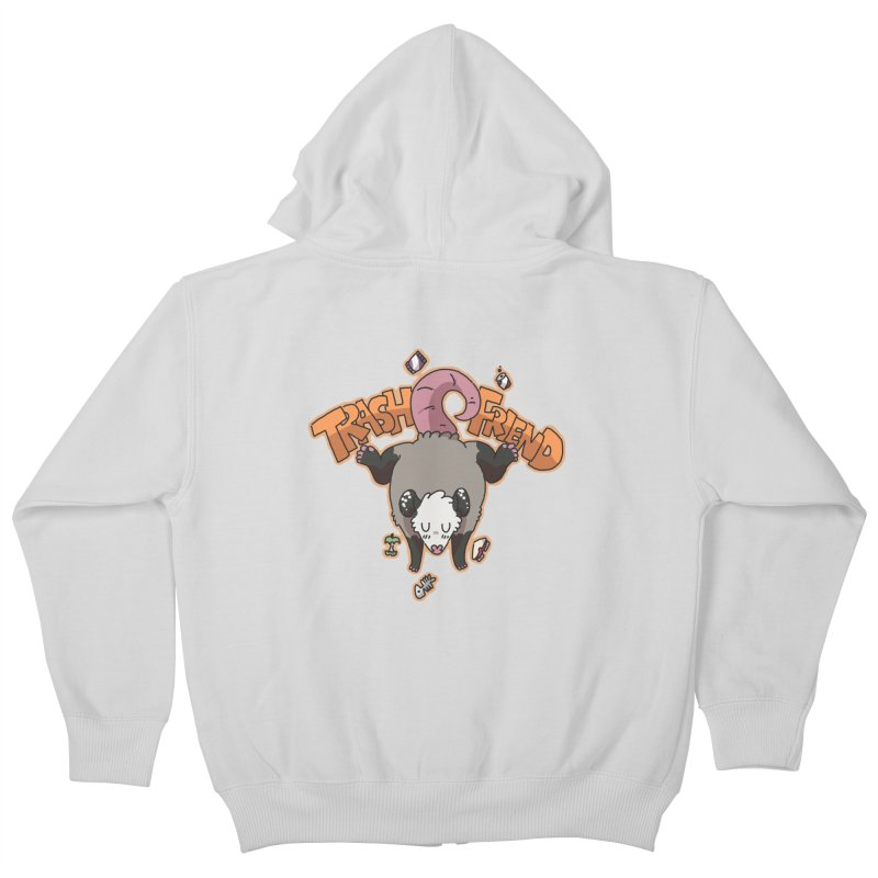Trash Friend  Kids Zip-Up Hoody by C.C. Art's Shop