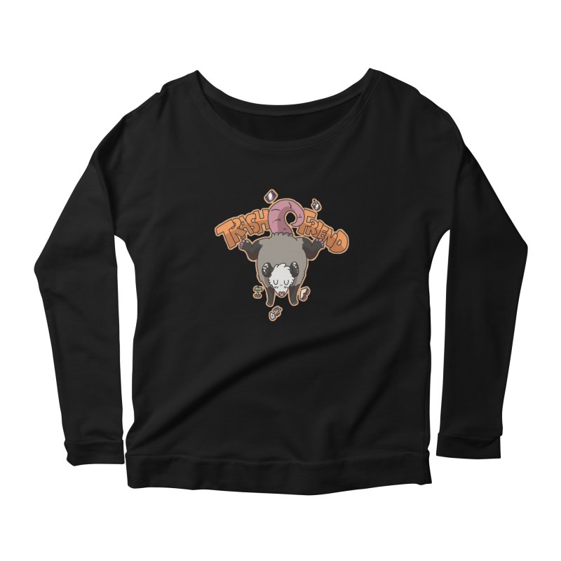 Trash Friend  Women's Longsleeve Scoopneck  by C.C. Art's Shop