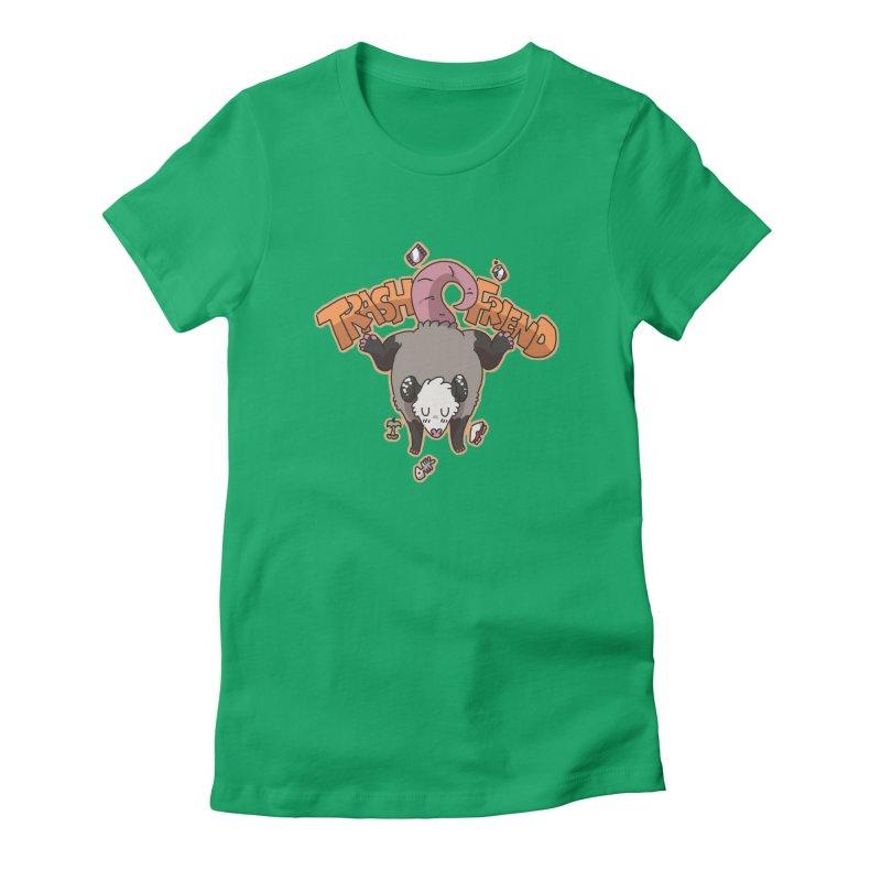 Trash Friend  Women's Fitted T-Shirt by C.C. Art's Shop