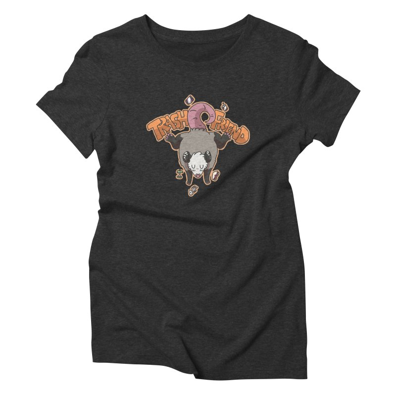 Trash Friend  Women's Triblend T-Shirt by C.C. Art's Shop