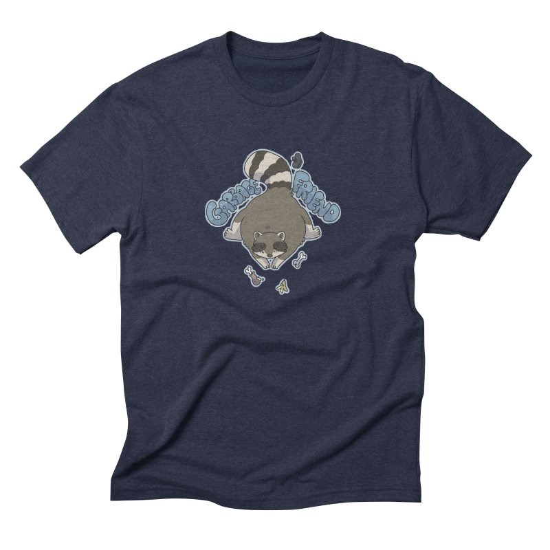 Garbage Friend  Men's Triblend T-Shirt by C.C. Art's Shop