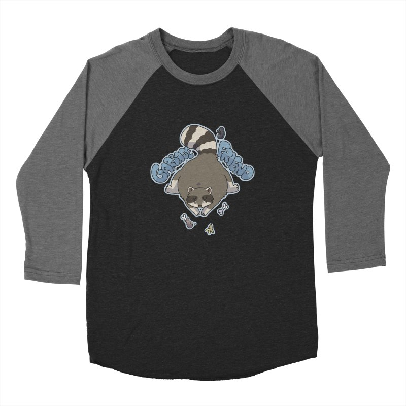 Garbage Friend  Men's Baseball Triblend T-Shirt by C.C. Art's Shop