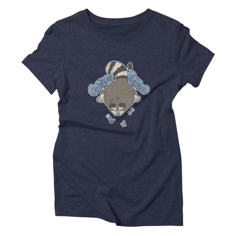 Garbage Friend  Women's Triblend T-Shirt by C.C. Art's Shop