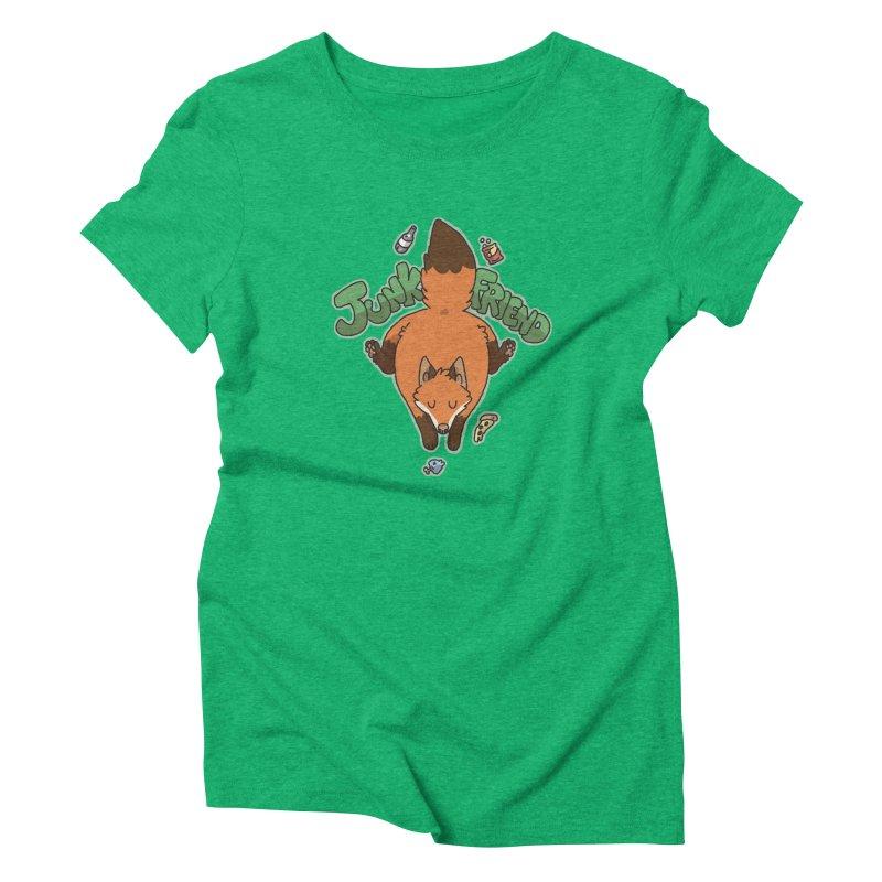 Junk Friend Women's Triblend T-Shirt by C.C. Art's Shop