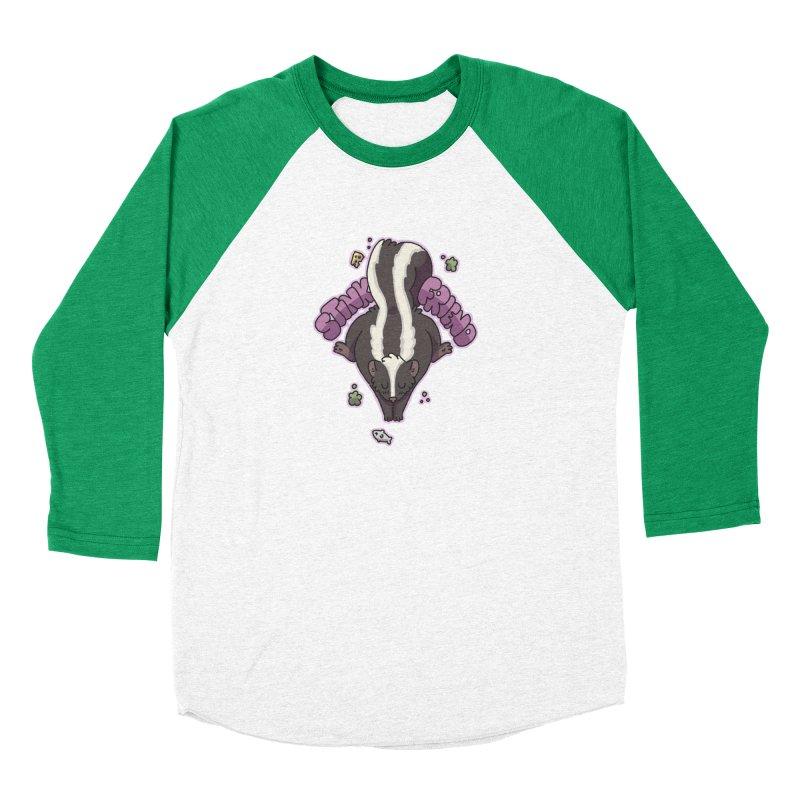 Stink Friend Women's Baseball Triblend T-Shirt by C.C. Art's Shop