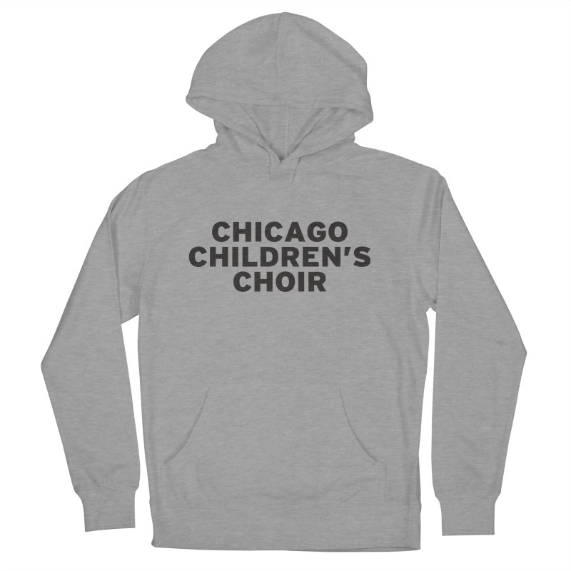 CCC Wordmark in Men's Pullover Hoody Heather Graphite by Chicago Children's Choir