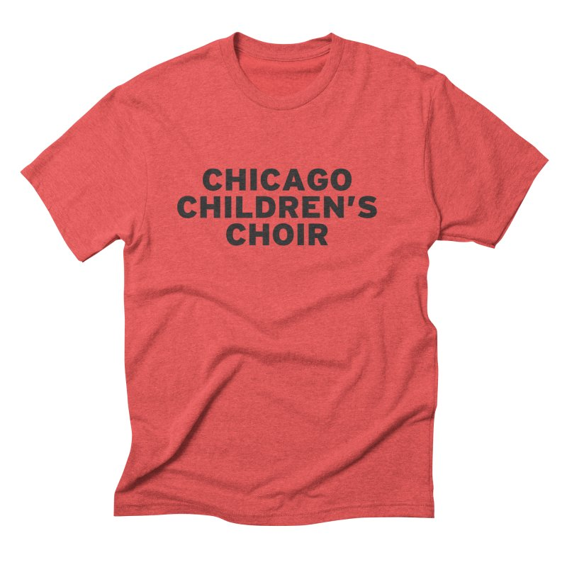 CCC Wordmark Men's Triblend T-Shirt by Chicago Children's Choir