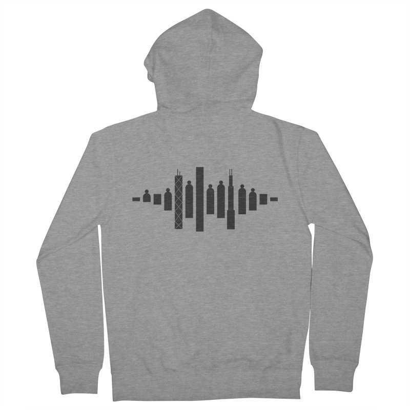 CCC Skyline - Black in Men's Zip-Up Hoody Heather Graphite by Chicago Children's Choir