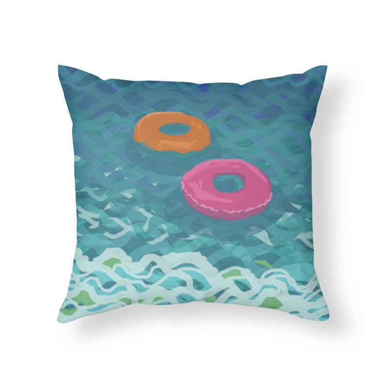 Floaties 2 Home Throw Pillow by ccmicheau's Artist Shop