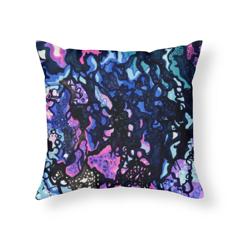 Nebula Home Throw Pillow by ccmicheau's Artist Shop